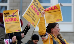 Members of the University and College Union on strike outside the University of Kent campus in Canterbury.