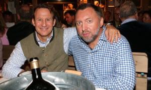 Adam Waldman, left, and Oleg Deripaska at the Oktoberfest in Munich in 2015.