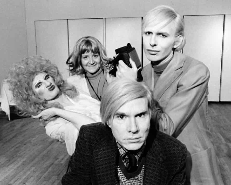 'Miss Warhol was a troublemaker' … with Andy and the cast of his play, Pork, in 1971.