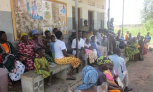 Mothers, children and patients at Ojom health centre
