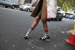 Street style at London Fashion Week.