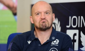 Gregor Townsend during his Scotland press conference on Thursday.