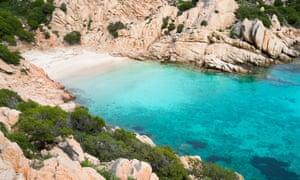 Cala Coticcio in Caprera island, Sardinia
