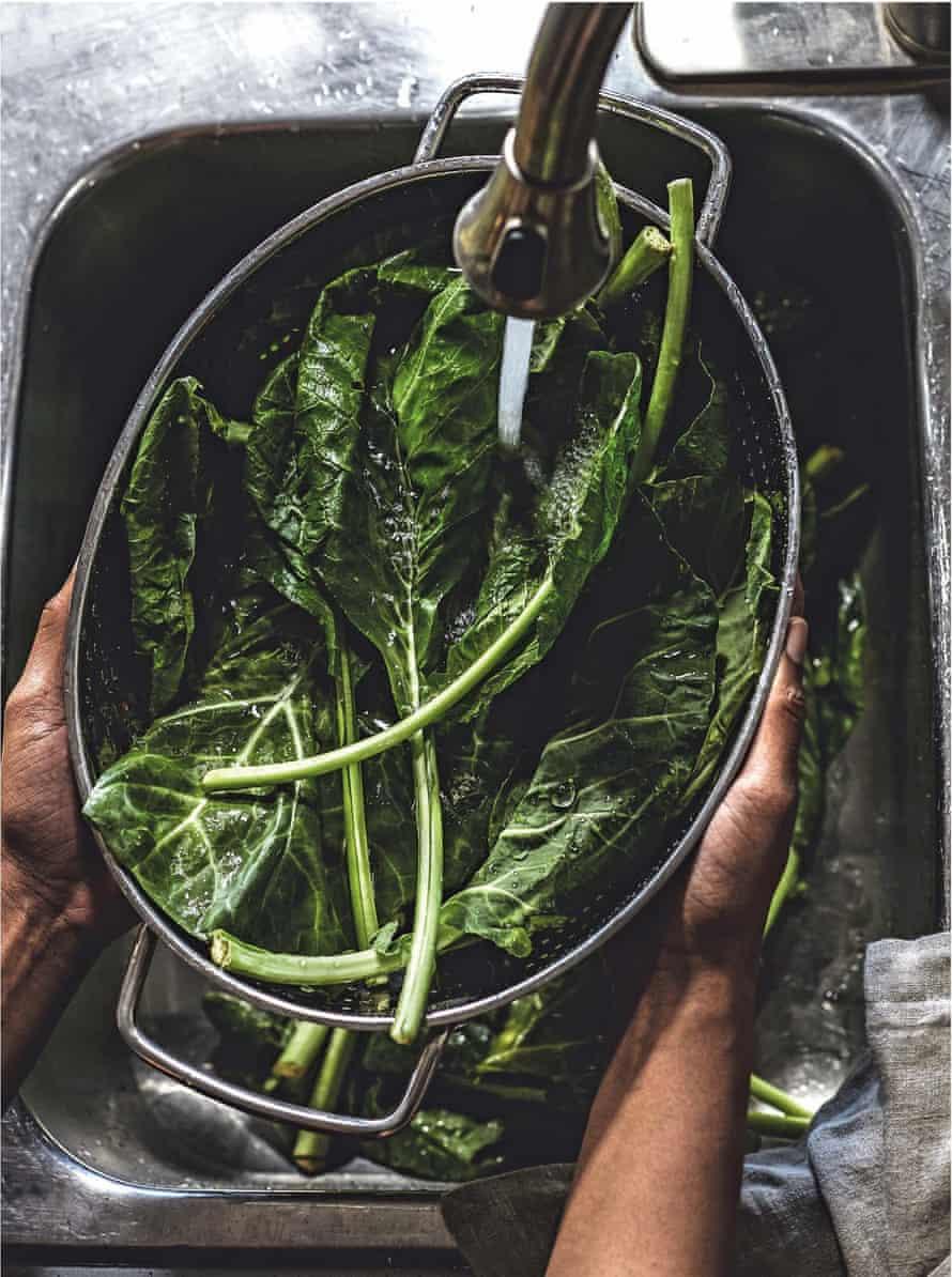 'Totemic soul food' – collard greens.