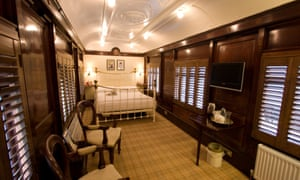 A bedroom in a train carriage