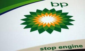 A BP sign at a petrol station