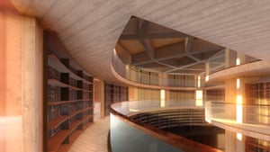 Three level Mona library, part of a proposed hotel development announced by Mona founder David Walsh.