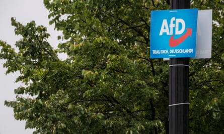 AfD campaign placard
