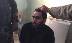 Mohamad Jamal Khweis pictured near Sinjar, Iraq.