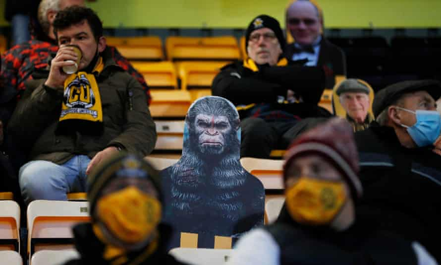 Fans at Cambridge United on Wednesday. 'It was strangely emotional as the U's walked out from underneath the main stand to generous applause.'