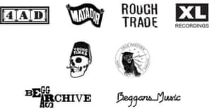 Record labels of Beggars Group - 4AD, Matador, Rough Trade, XL, Young Turks, True Panther