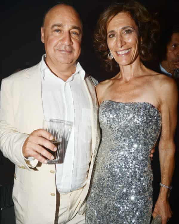 Len Blavatnik and his wife, Emily Appelson, at a Warner Music Group party in 2012.