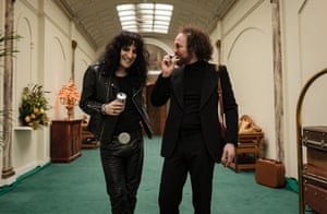 Waiting for the D-Man … Noel Fielding as Cooper and Paul Kaye as his manager Shep Gordon in Urban Myths.