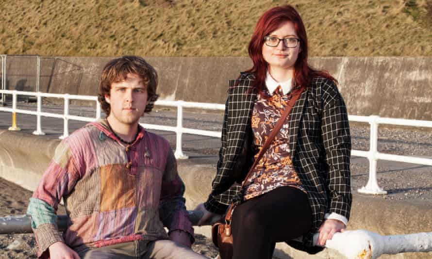Students Dan Hooper and Rebecca Hopkins.