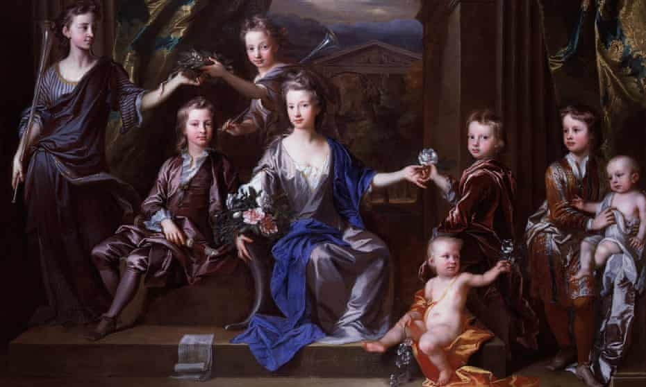 Family affair ... a detail from The Children of John Taylor of Bifrons Park (1696) by John Closterman.