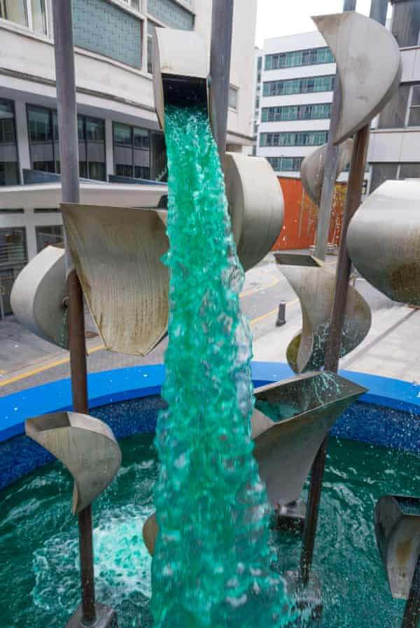 Richard Huws's 1967 kinetic sound sculpture, Piazza Waterfall.