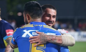 Parramatta's Bevan French and Nathan Peats of Gold Coast