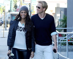 Tyra Banks and boyfriend Erik Asla out and about, Los Angeles, America - 07 Feb 2014
