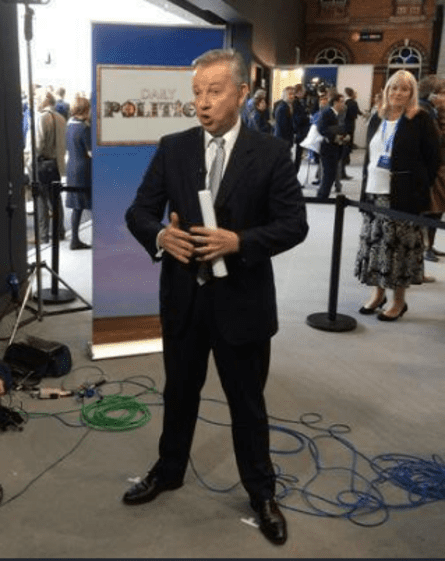 Michael Gove at Conservative party conference, 2015