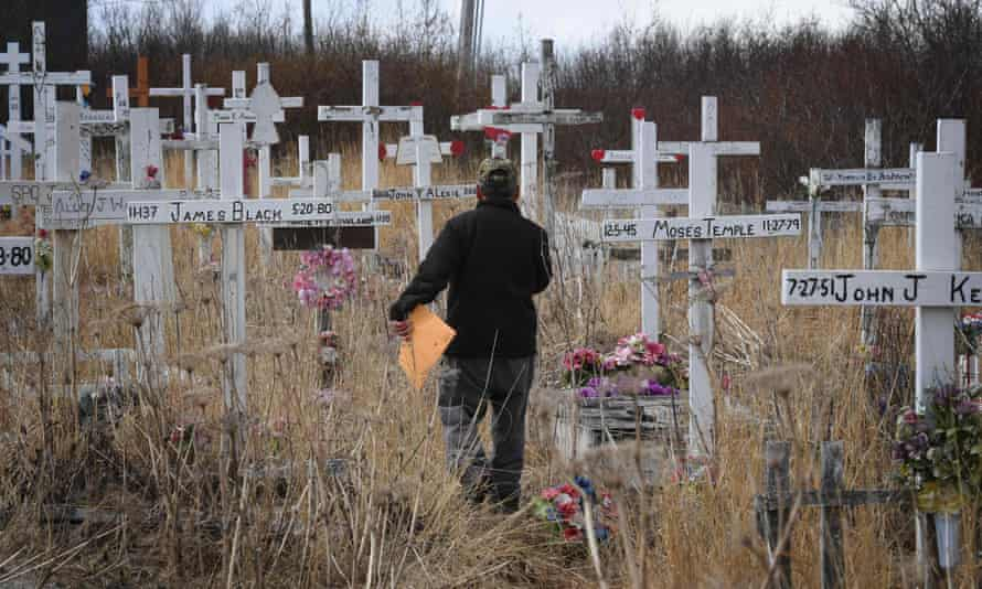 The Napakiak cemetery had to be relocated because of severe erosion of the permafrost tundra. According to scientists, Alaska has been warming twice as fast as the global average.