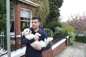 Micklegate ward resident Tom Jackson and his dog, Ralph
