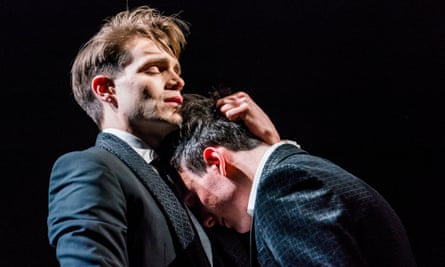 Enfolds you in its narrative … Matthew Lopez's play The Inheritance, with Andrew Burnap and Samuel H Levine.