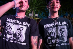 Fans of the Thailand punk band Drunk All Day.