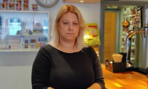 Leanne Underhill standing by her bar