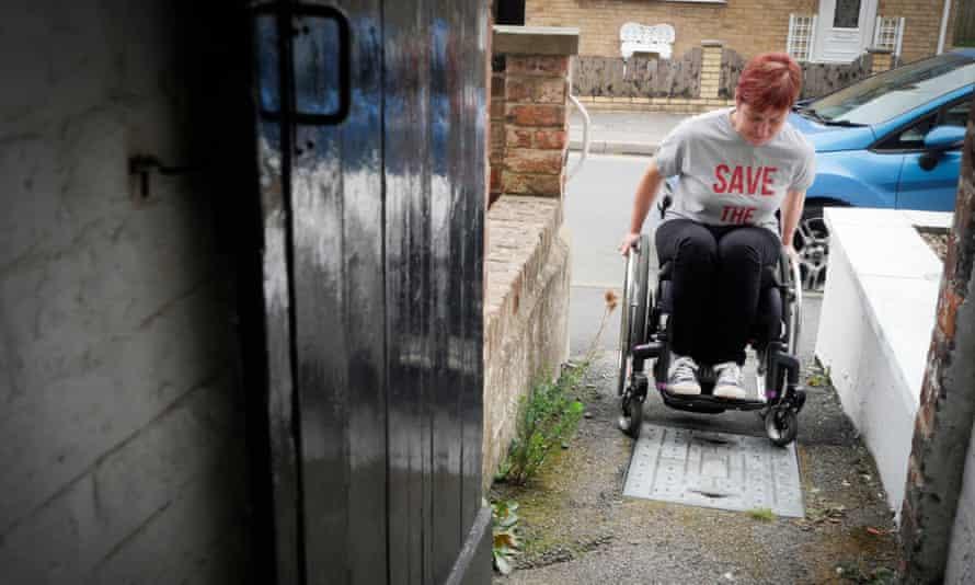 Teacher Cath Scarlett, who has used a wheelchair since 2011.