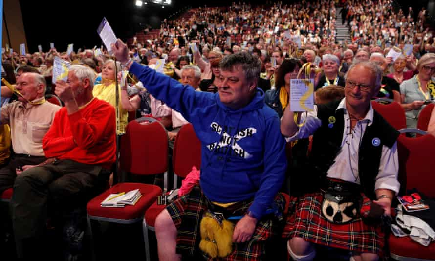 Delegates at the Scottish National party spring conference in Aberdeen.