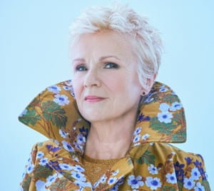 Julie Walters wears an embroidered coat by Erdem