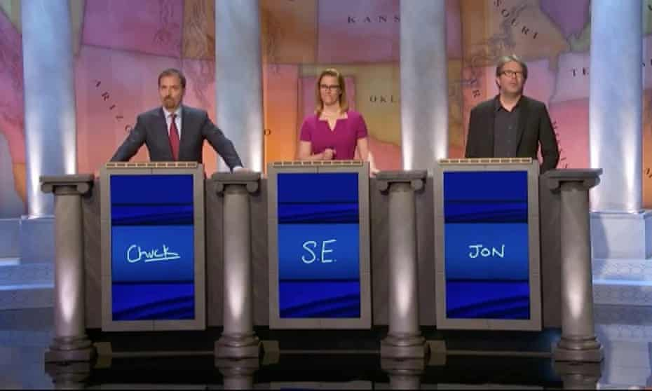 You can call me Jon: Franzen on celebrity Jeopardy.