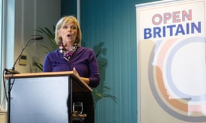Anna Soubry addresses meeting of Open Britain