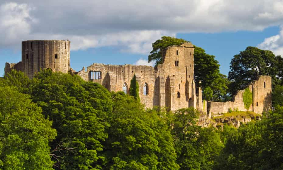 Barnard Castle, on the banks of the River Tees in Country Durham.