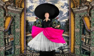 Harris Reed roundabout-wide hat and crinoline skirt.