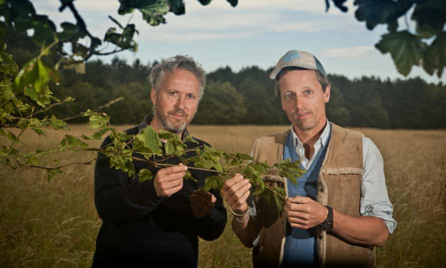 Hugh Somerleyton and Argus Hardy on the Somerleyton estate in Suffolk