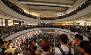 Hong Kong, China Protesters gather during a demonstration at the International Finance Centre