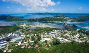 Aerial view, Koror, Palau, Micronesia