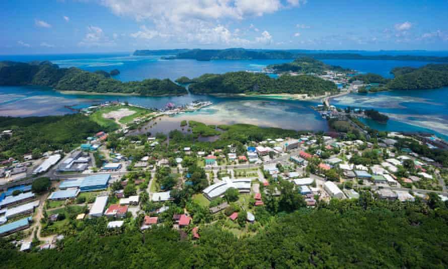 Palau's largest city Koror.