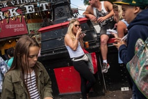 Crowds in Camden Market during a busy weekend before the coronavirus outbreak.