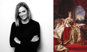 Author Julia Baird with Franz Xaver Winterhalter's portrait of Queen Victoria.