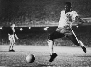Pele, shown here in 1958, was the top scorer in the 1959 edition.