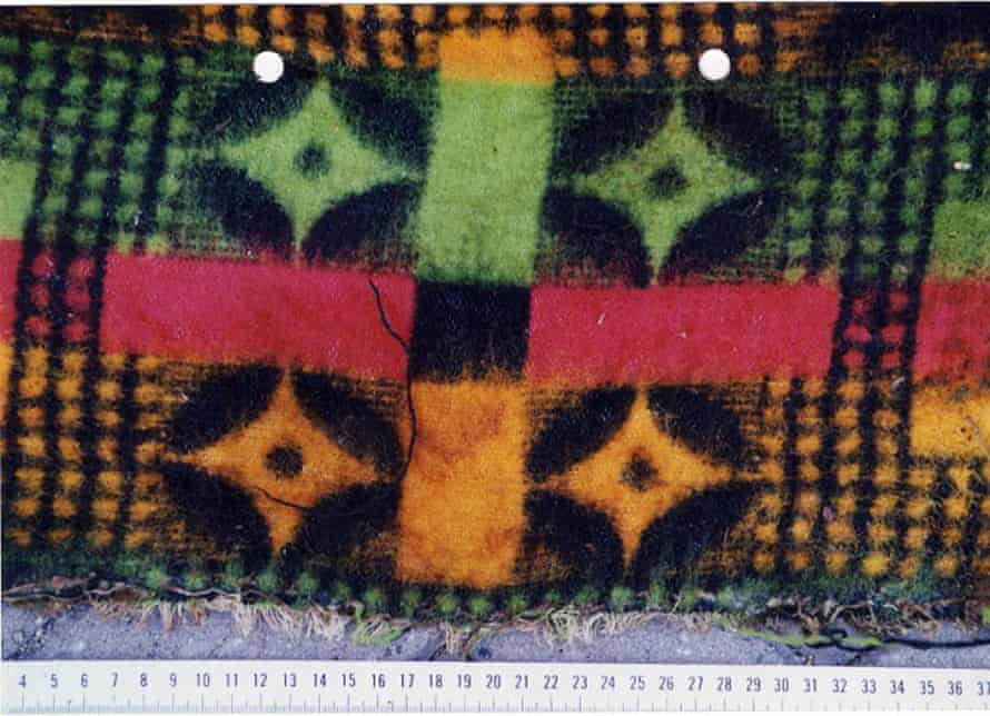 A section of the blanket in which the victim had been wrapped.