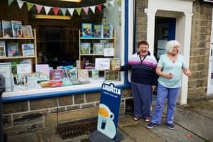 A bookshop re-opens.