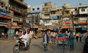 Busy streets of Old Delhi, India