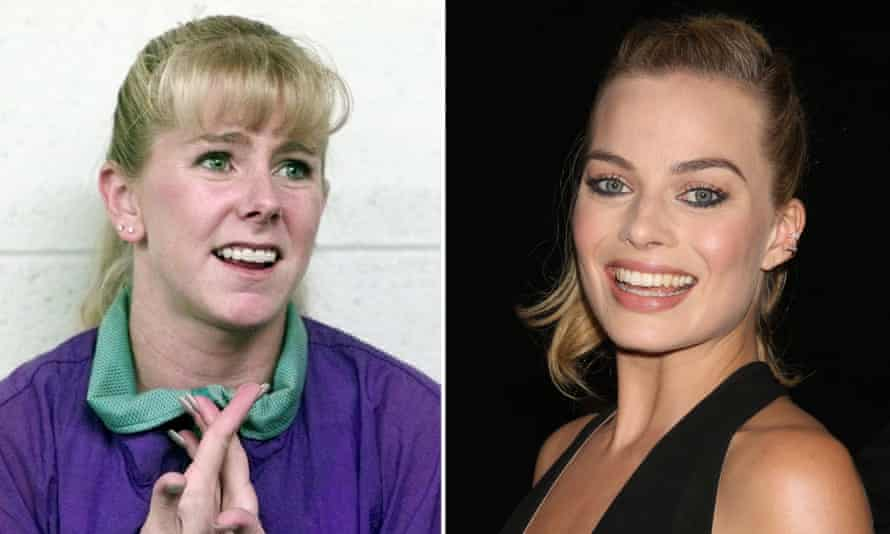 Competitive edge ... figure skater Tonya Harding (left), will be played by Margot Robbie (right) in a new biopic