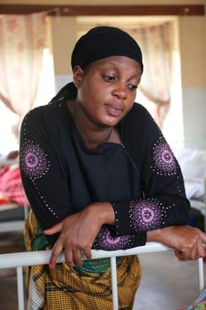Kemisa Hidaya, 27, in Kawaala Health Centre II, Kampala, Uganda