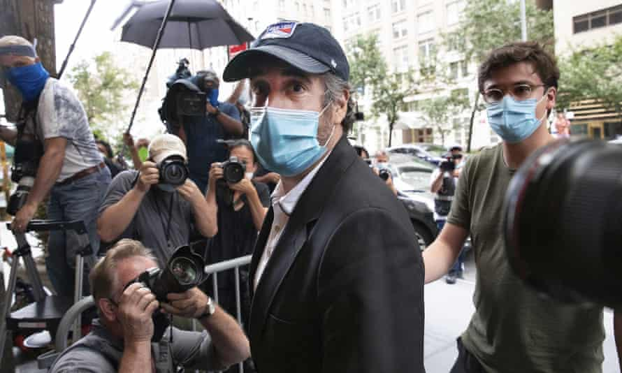 Michael Cohen in New York City on 24 July 2020.