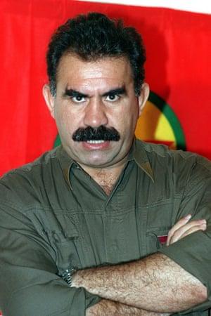 Abdullah Öcalan, the head of the PKK, in 1993. He has been imprisoned since 1999.