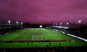 The 7,850-capacity Rodney Parade ground during Newport County's FA Cup fourth round tie against Tottenham last season.